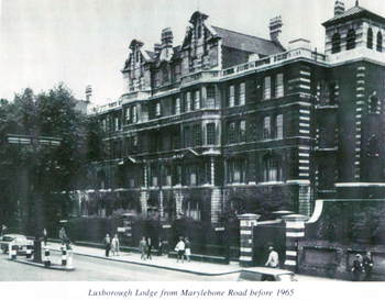 front of the old Workhouse facing Marylebone Road
